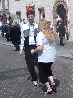 Salsa North 'dancing in the street' Inverness, May 2012
